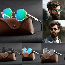 <b>Men's</b> Accessories Vintage <b>Steampunk Sunglasses</b> Round Mirrored ...