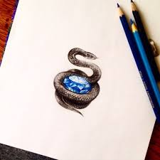 Brilliantsnake Jdtattoostudio Tattoo змея Snake бриллиант