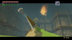 open the chest that appears for a joy pendant and then use the deku leaf to fly back over to the door use it to walk back into the previous room