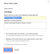 How To Use Email How To Share A Gmail Label Cloudhq Support