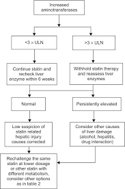 Statin Efficacy Chart Algorithm For Management For Abnormal Liver Enzymes During