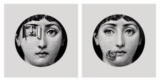 Fornasetti Art Prints Fornasetti Style Set Of 2 Unframed Prints Black Art Fit Ikea