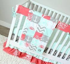 ocean baby girl crib bedding c mint