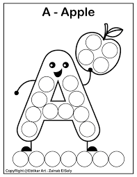 Search through 52006 colorings, dot to dots, tutorials and silhouettes. Set Of Abc Dot Marker Coloring Pages