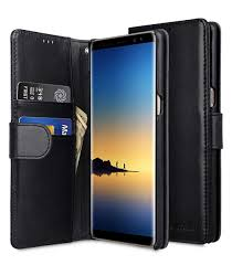 melkco premium leather case for samsung galaxy note 8 wallet book type black