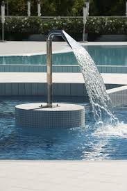 Public Pool Design Swimming Pool Waterfall Cemi
