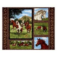 Christmas Fabric Panel - Horse Fabric Panel with Cardinal ... & Run Free Horse Panel Multi from @fabricdotcom From Fabri-Quilt, this nature  inspired Adamdwight.com