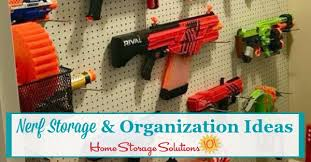This is sure to be every kid's favorite spot in the house! Nerf Storage Organization Ideas For Blasters Accessories