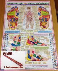 Details About Reflexology Thai Foot Massage Health Chart Free Wooden Massage Stick Tool