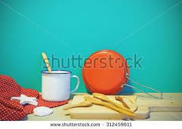 colorful kitchen utensils. Contemporary Kitchen Colorful Kitchen Utensils And Tablecloth On Table Front Mint Green  Background Vintage Effect For Kitchen Utensils I