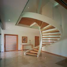 Many Kind Circular Staircase Design. Beautiful Space Saving Spiral Staircase  Design Ideas Come With Floating Wooden Staircase And Glass Spiral Railing  And ...