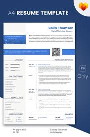 Digital Resume Template Colin Thompson Digital Marketing Manager Resume Template 24 24
