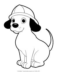 sparky the fire dog craft. kids glue on spots and paint hat red sparky the fire dog craft