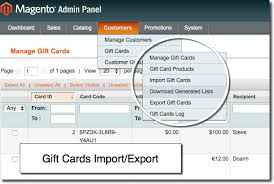 export import gift cards in gift certificates magento extension