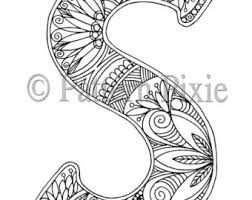 Small Picture Letter s coloring Etsy