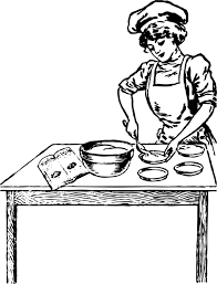 woman cooking clipart black and white.  White Cooking Baking Chef Woman Baker And Clipart Black White