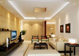 Internal design living room warm wall