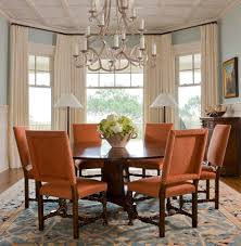 dining room bay window curtains ideas