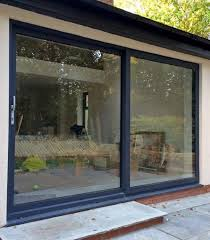 6 pane aluminium patio door 2 pane aluminium in grey
