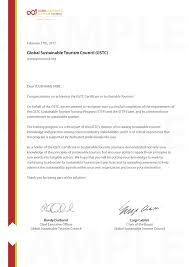 What Is Course Completion Certificate Certificate In Sustainable Tourism Global Sustainable
