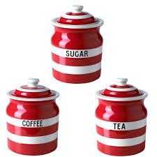sugar jar set tea coffee george home cream and ceramic glass