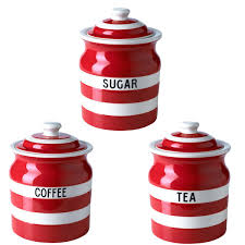 sugar jar set tea coffee george home cream and ceramic glass