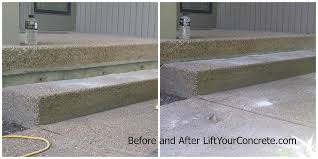 Raising concrete patio Foam Jacking The Information You Find Online Is Not Always Right Slabjack Geotechnical What Can Do If My Front Steps Are Sinking Concrete Raising Systems