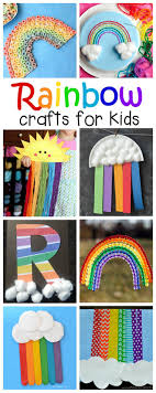 Lots of great rainbow crafts that kids can make for spring, summer, St.