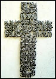 metal cross wall art haitian metal art cross scripture john