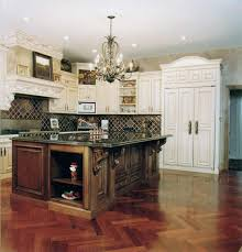 country lighting ideas. French Country Kitchen Cabinets Brown Beadboard Island Decor Themes Ideas Utensils Hooks Lighting Double Bowl Farmhouse Sink