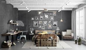 industrial bedroom scheme  interior design ideas
