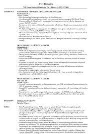 Franchise Development Manager Sample Resume Franchise Development Manager Resume Samples Velvet Jobs 1