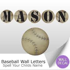 baseball name wall letter stickers
