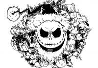 Jack Skellington Christmas Coloring Pages For Kids With Nightmare