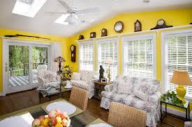 Image Sofa Yellow Sunroom With Antique Decor Designing Idea 30 Sunroom Ideas Beautiful Designs Decorating Pictures