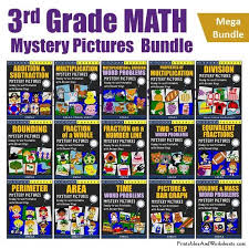 Small Picture 3rd Grade Math Mystery Pictures Coloring Worksheets Bundle