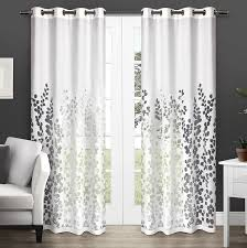 com exclusive home wilshire burnout sheer window curtain panel pair with grommet top winter white 54x96 2 piece home kitchen