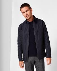 Geo quilted jacket - Navy | Jackets & Coats | Ted Baker &  Adamdwight.com