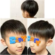 セットをしない整髪料つけない小学生男子ヘアはアクセントをつけて