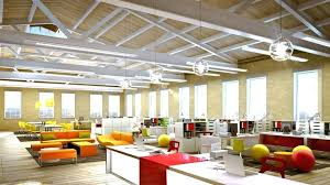 creative office space ideas. Decoration: Creative Office Space Ideas Looking Decoration For With Orange Leather Sofa And Ball Shape