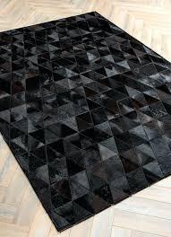 patchwork cowhide rug by mosaic rugs luxury handcrafted black patchwork cowhide rug modern geometric pattern design patchwork cowhide rug