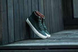 vans sk8 hi reissue zip premium leather dufflbag green