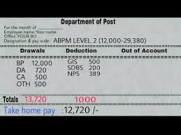 Postmaster Pay Chart Salary Slip For 2018 Gds Md Mc Packer Mailman Stamp Vendors