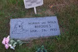 Nola Rhodes (1933-1933) - Find A Grave Memorial