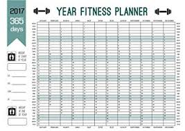 Weight Loss Chart Amazon 2017 Maxi Size Year Calendar Planner 365 Day Fitness Record