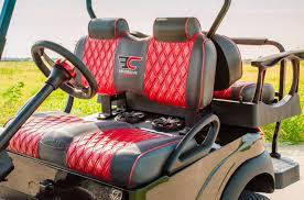 red and black solar golf cart full