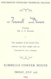 Simple White Themed With Farewell Dinner And Party Invitation Card ...