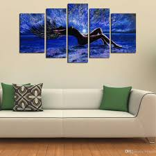 2018 5 panels sexy girl abstract canvas wall art women naked figure canvas art oil painting on canvas for living room bedroom wall decor from byxart  on 5 canvas wall art custom with 2018 5 panels sexy girl abstract canvas wall art women naked figure