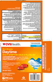 Daytime Cold Flu Relief Capsule Liquid Filled Cvs Pharmacy