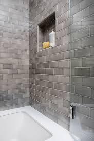 grey tile small bathroom tile